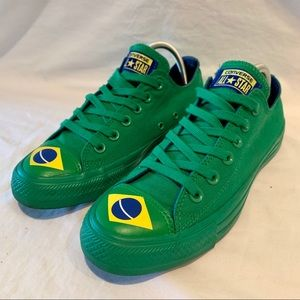 Men's 6 BRAZIL CONVERSE ALL STAR Shoes Women's 8